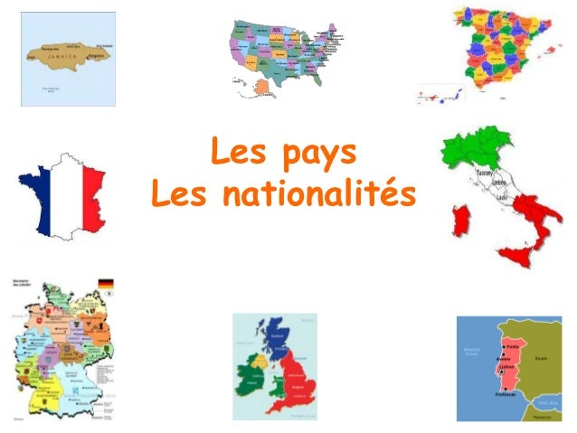Les pays et les nationalités    Match the pairs by colouring each pair (nationality English + French, or country English +...