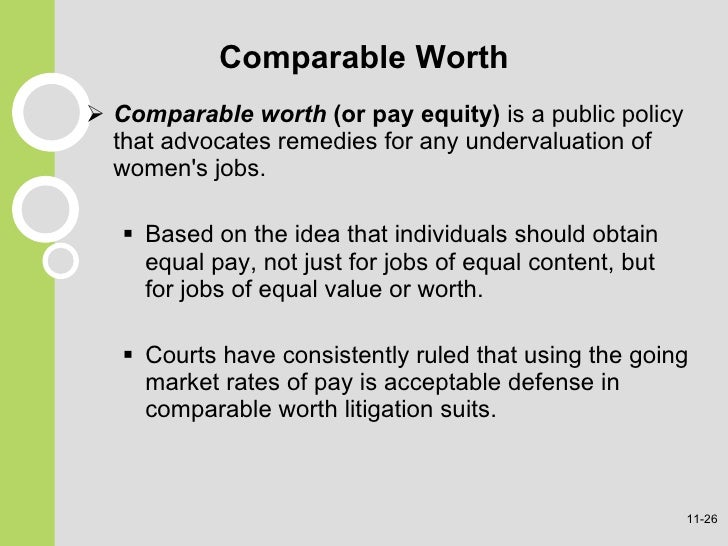 what does comparable worth mean