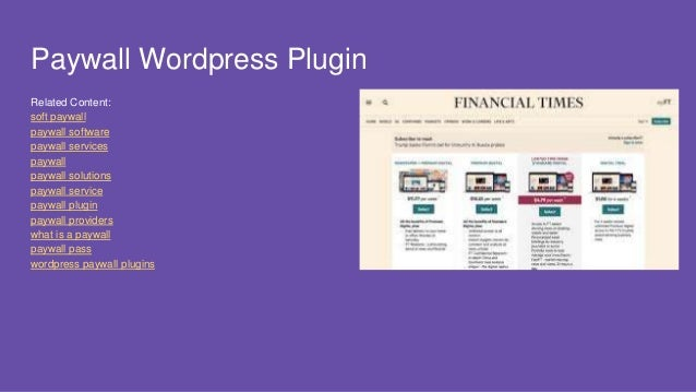 Pay Wall Plugin for Wordpress