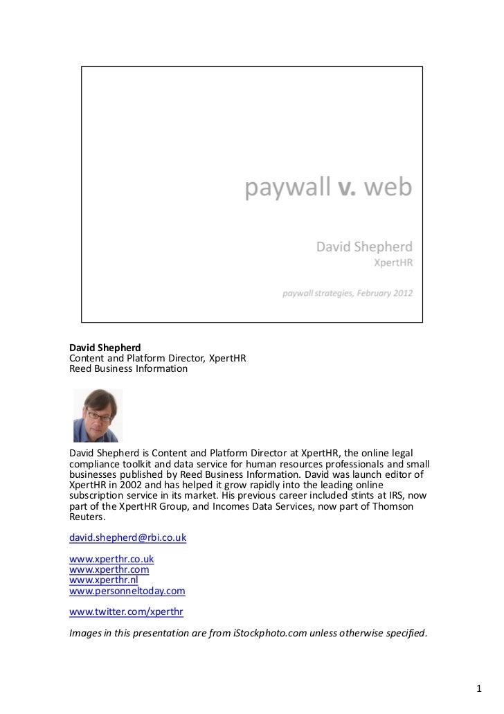 David ShepherdContent and Platform Director, XpertHRReed Business InformationDavid Shepherd is Content and Platform Direct...