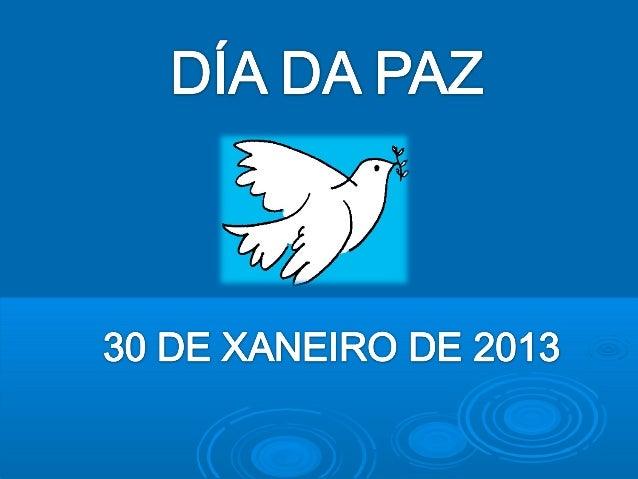 O DÍA ESCOLAR DA NON VIOLENCIA E DA PAZ (DENIP) éo 30 de xaneiro.Empezouse a celebrar, grazas ao educador Llorenç Vidal Vi...