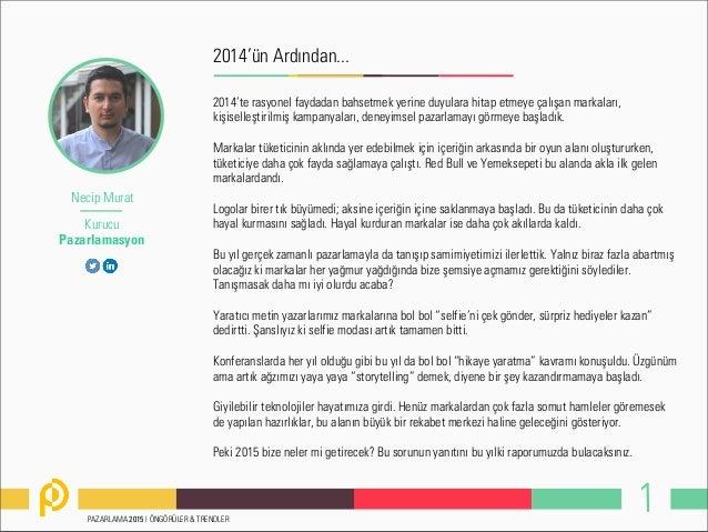 Pazarlama trendleri 2015 Slide 3