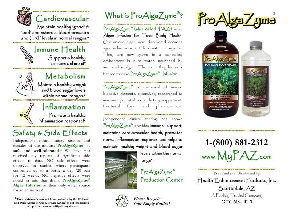 Cardiovascular                              What is ProAlgaZyme®?             Maintain healthy 'good' &                   ...