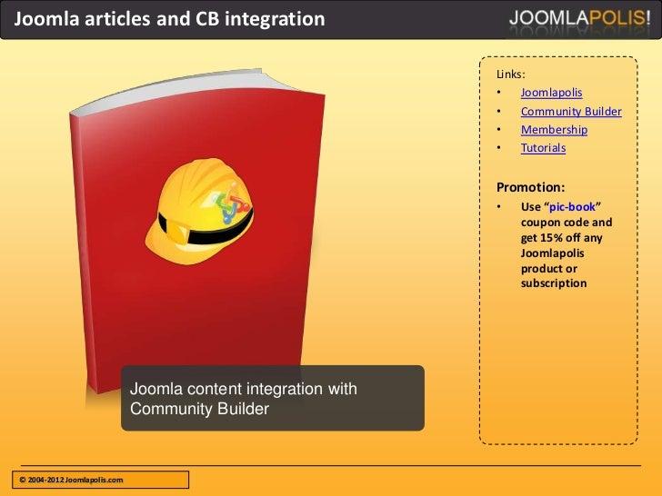 Joomla articles and CB integration                                                                Links:                  ...