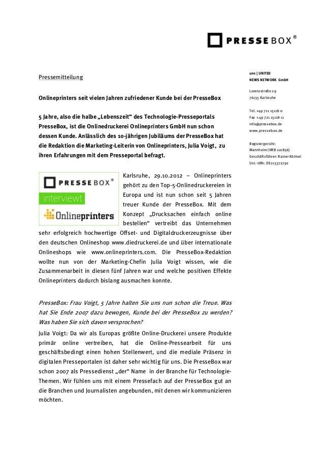 unn | UNITEDPressemitteilung                                                               NEWS NETWORK GmbH              ...