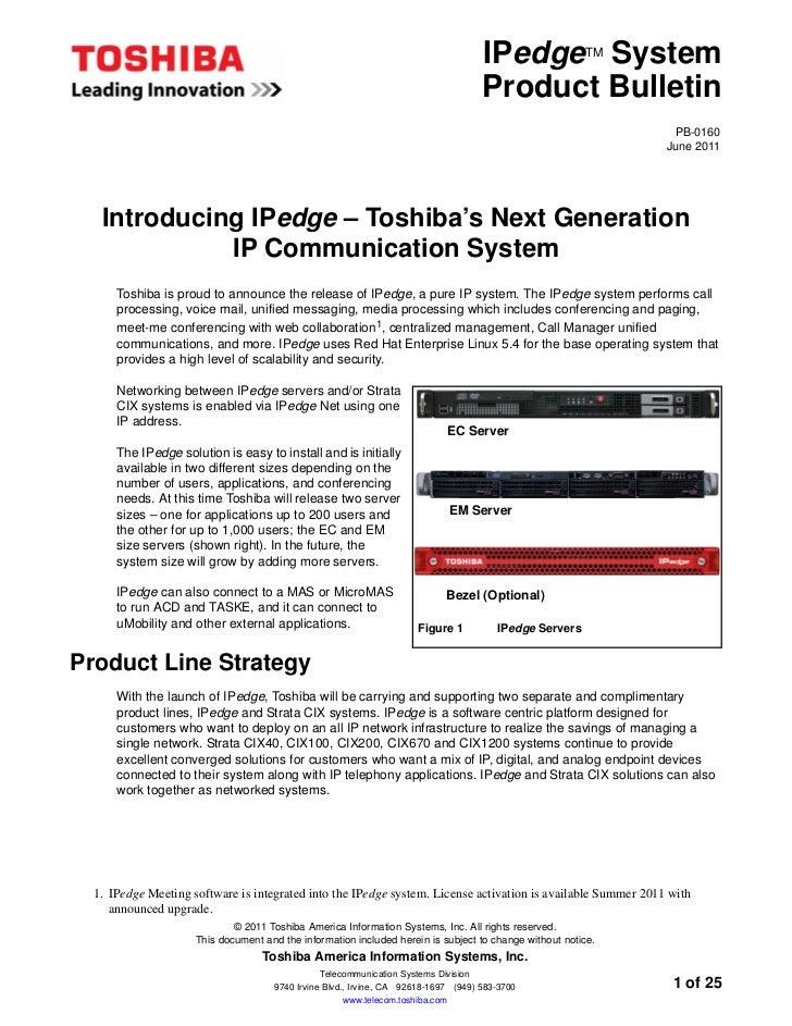 IPedge System       TM                                                                                    Product Bulletin...