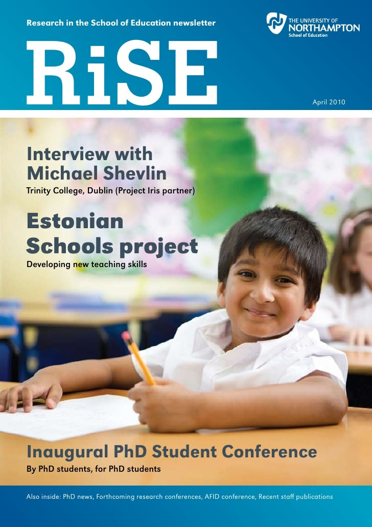 Research in the School of Education newsletter     RiSE                                                                   ...