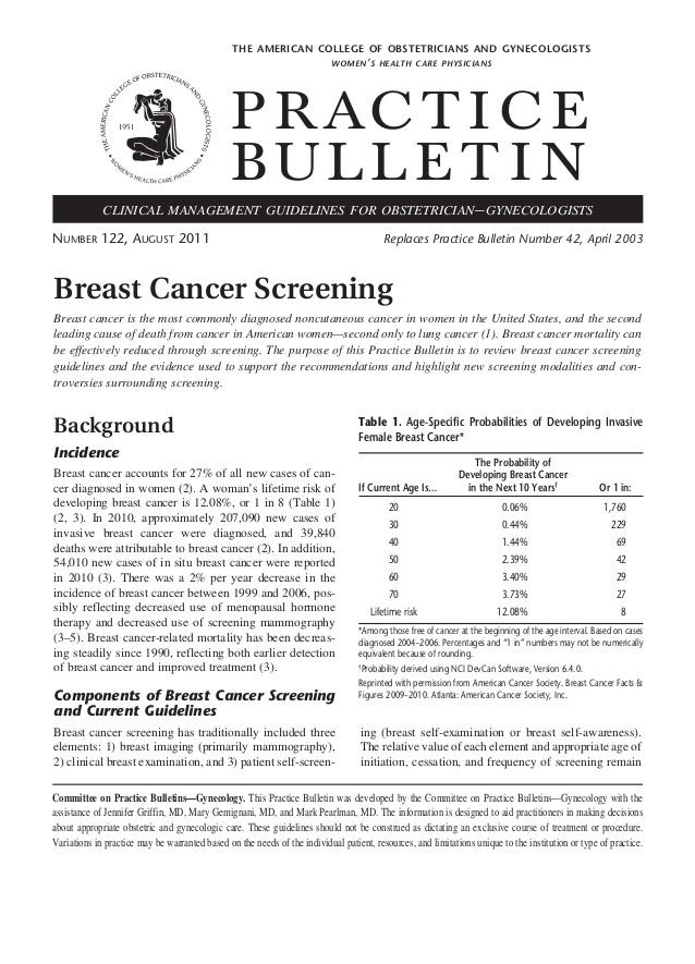 College breast exam