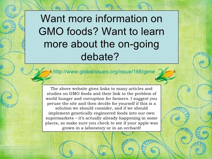 a view on the genetically engineered food as a solution to the problem of world hunger Gm crops alone will not solve the hunger problem, but they can be an important component in a broader food security strategy  genetically modified (gm .