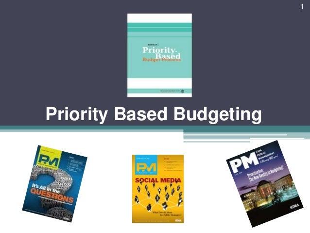 Priority Based Budgeting 1