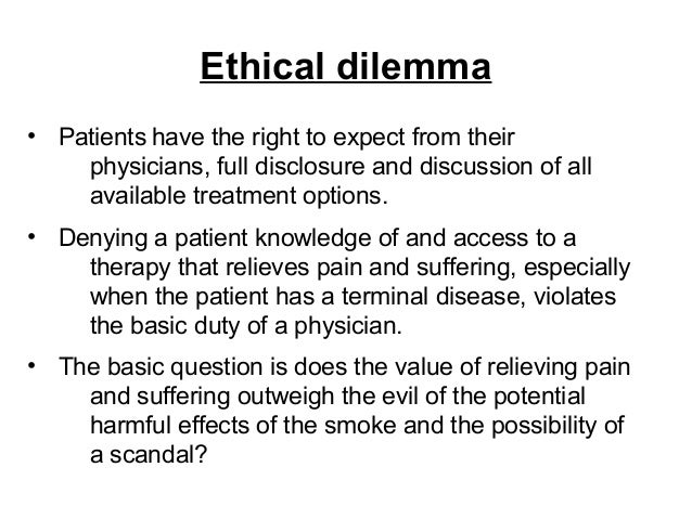 ethical dilema