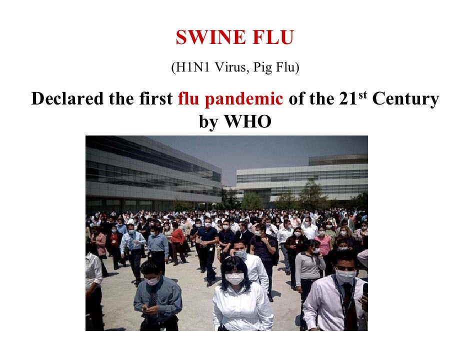 SWINE FLU                  (H1N1 Virus, Pig Flu)  Declared the first flu pandemic of the 21st Century                     ...