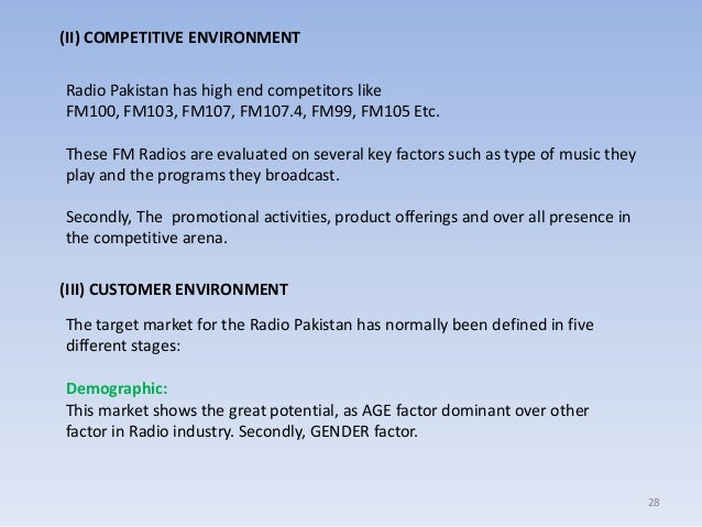 comparative analysis of fm stations pakistan Listen to local fm internet radio online for free on radionet all radio streams and radio stations at one glance discover online now.