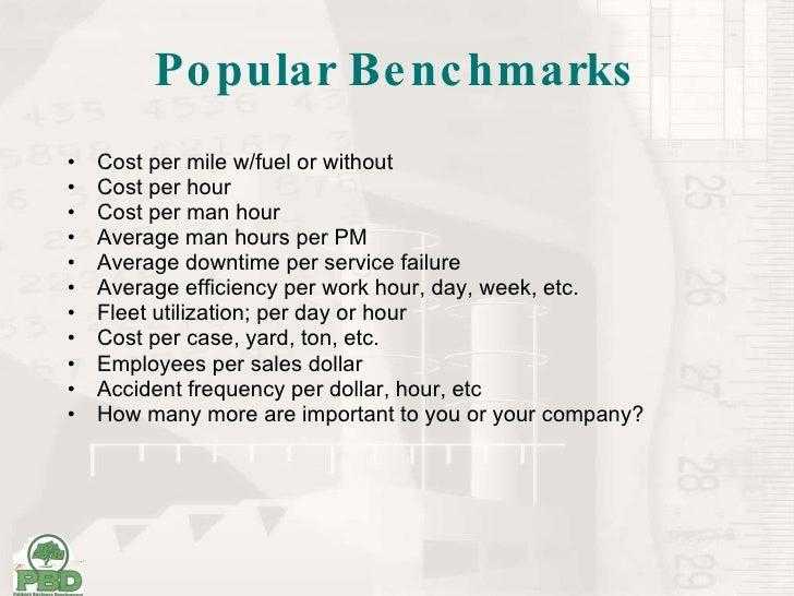 Pbd Benchmarking
