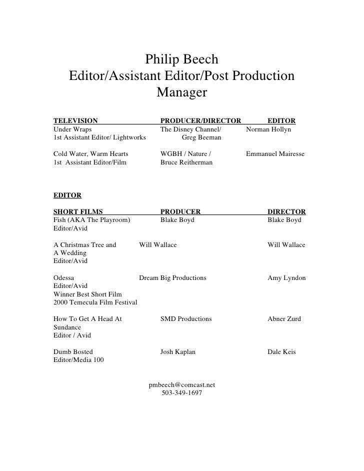 cover letter film editor resume sample film and video editor film editor cover letter - Film Editor Resume Template