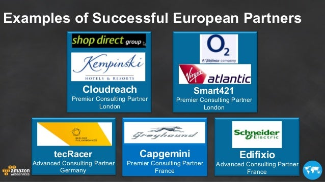 Examples of Successful European Partners Cloudreach Premier Consulting Partner London Smart421 Premier Consulting Partner ...