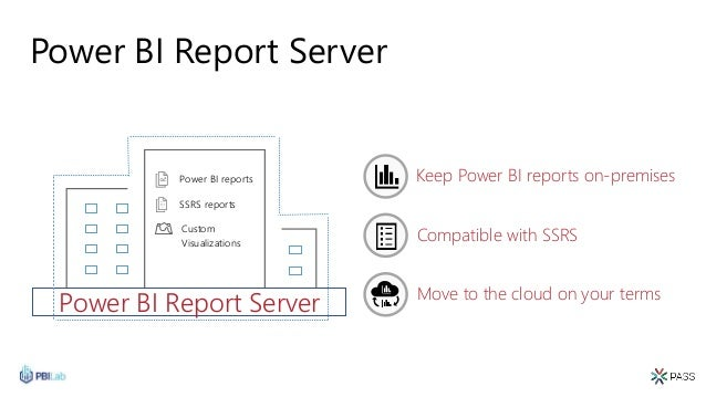 Power BI Report Server Move to the cloud on your terms Compatible with SSRS Keep Power BI reports on-premises SSRS reports...