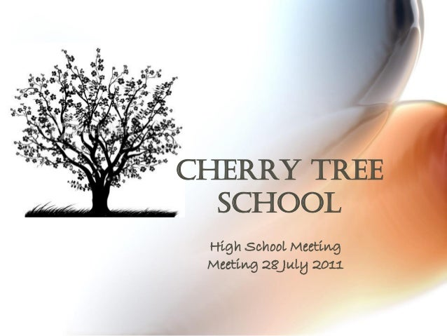 Cherry Tree School  High School Meeting  Meeting 28 July 2011