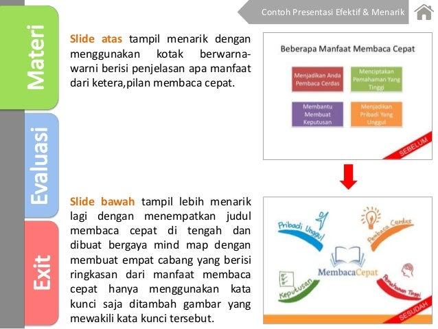 Slide atas tampil menarik dengan menggunakan kotak berwarna- warni berisi penjelasan apa manfaat dari ketera,pilan membaca...