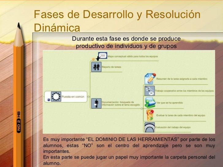 Fases de Desarrollo y Resolución Dinámica Durante esta fase es donde se produce productivo de individuos y de grupos Es mu...