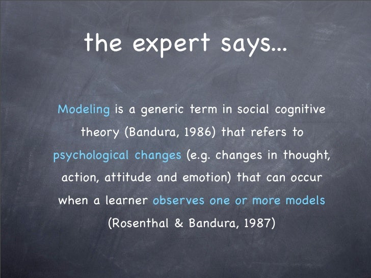 bandura s modeling effect inhibitory and disinhibitory effect and eliciting effect Banduras study - download as pdf  (bandura et al screened from the child's view by  t xs within groups  p effect of the model's.