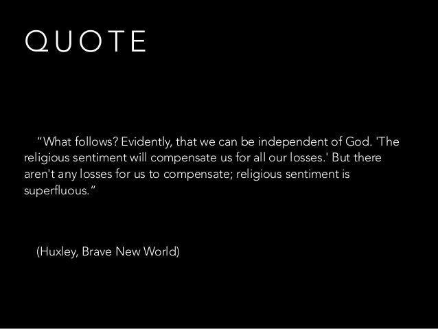 religion in brave new world essay