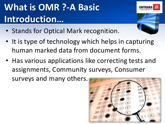 OMR Design And Evaluation System