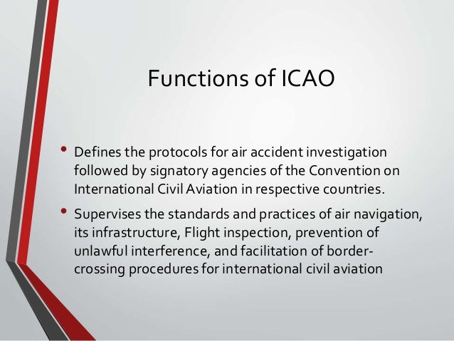 What Are The Objectives Of International Civil Aviation Organisation (ICAO)?