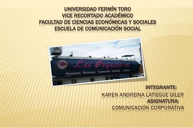 UNIVERSIDAD FERMÍN TORO VICE RECORTADO ACADÉMICO FACULTAD DE CIENCIAS ECONÓMICAS Y SOCIALES ESCUELA DE COMUNICACIÓN SOCIAL...