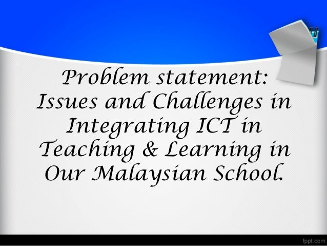 integrating ict in education In secondary schools, by first investigating the challenges in integrating ict in   based framework for integrating icts in teaching and learning in secondary.
