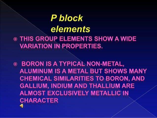 P Block Element Pdf