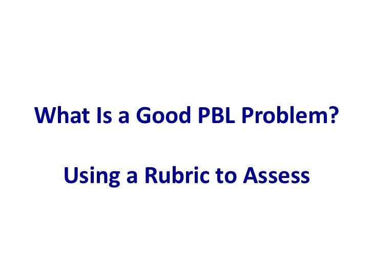 pbl rubric