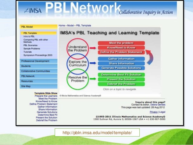 Projectbased And Problembased Learning - Project based learning lesson plan template