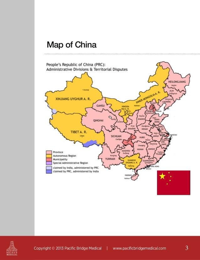 Map of China  Copyright © 2013 Pacific Bridge Medical     www.pacificbridgemedical.com  3