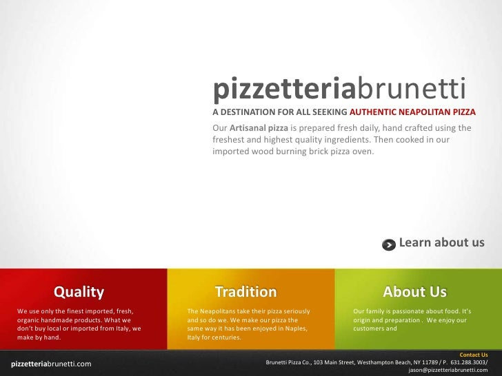 pizzetteriabrunetti                                                      A DESTINATION FOR ALL SEEKING AUTHENTIC NEAPOLITA...