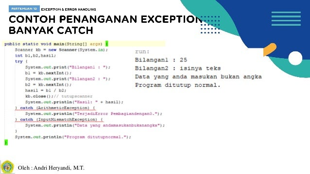 PBO Pertemuan 10 - Exception & Error Handling