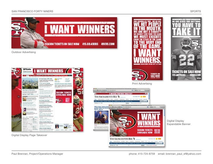 SAN FRANCISCO FORTY NINERS                                                              SPORTS     Outdoor Advertising    ...