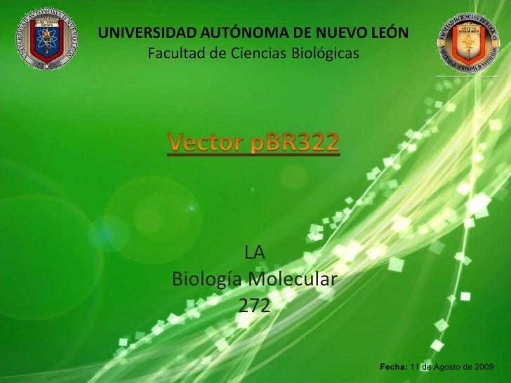 LA Biología Molecular 272  Fecha:  11 de Agosto de 2009