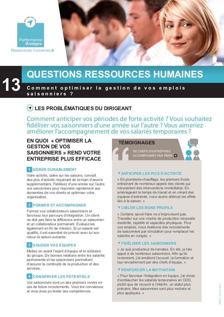 Bretagne    Environnement    Performance        BretagneRessources humaines        Questions ressources humaines13  Perfor...