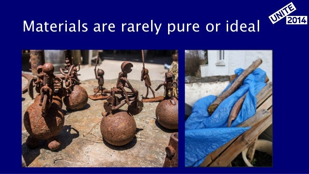 Materials are rarely pure or ideal