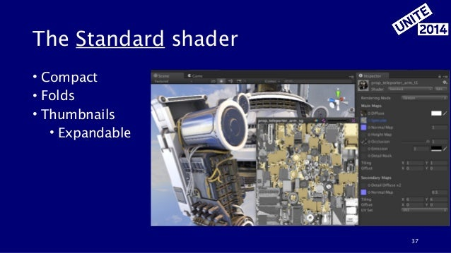 The Standard shader • Compact • Folds • Thumbnails • Expandable 37