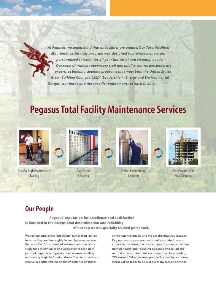 Pegasus Building Services Brochure