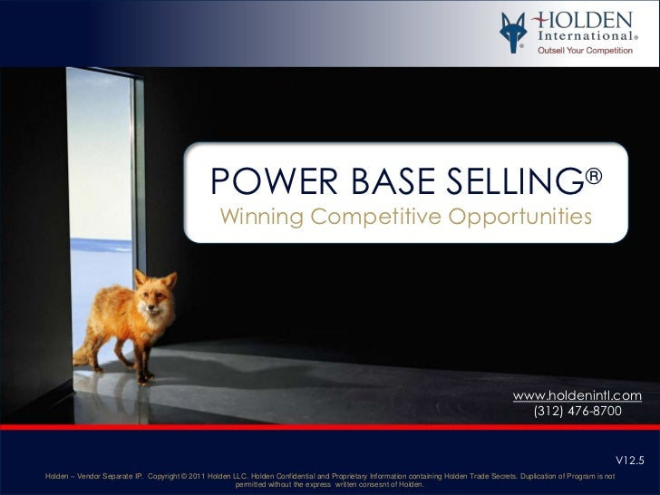 Power Base Selling Preview