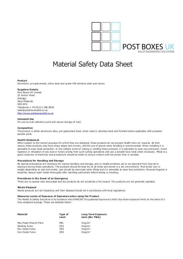 Paint safety data sheet