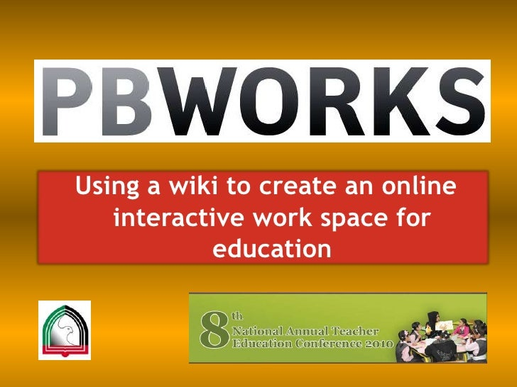 Using a wiki to create an online interactive work space for education<br />
