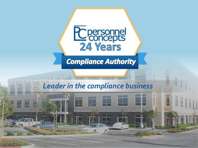 THE  Leader in the compliance business