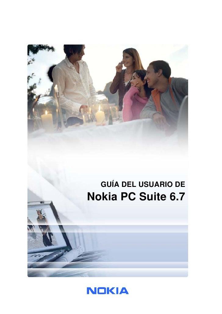 GUÍA DEL USUARIO DE Nokia PC Suite 6.7