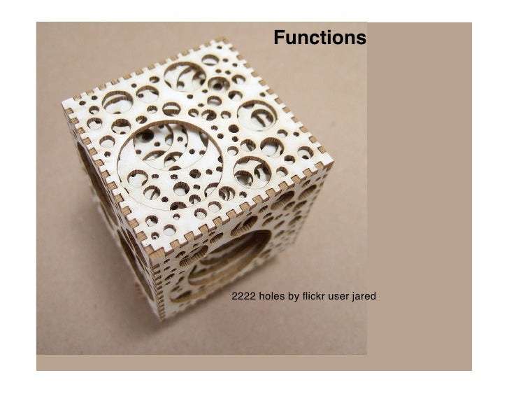 Functions     2222 holes by flickr user jared
