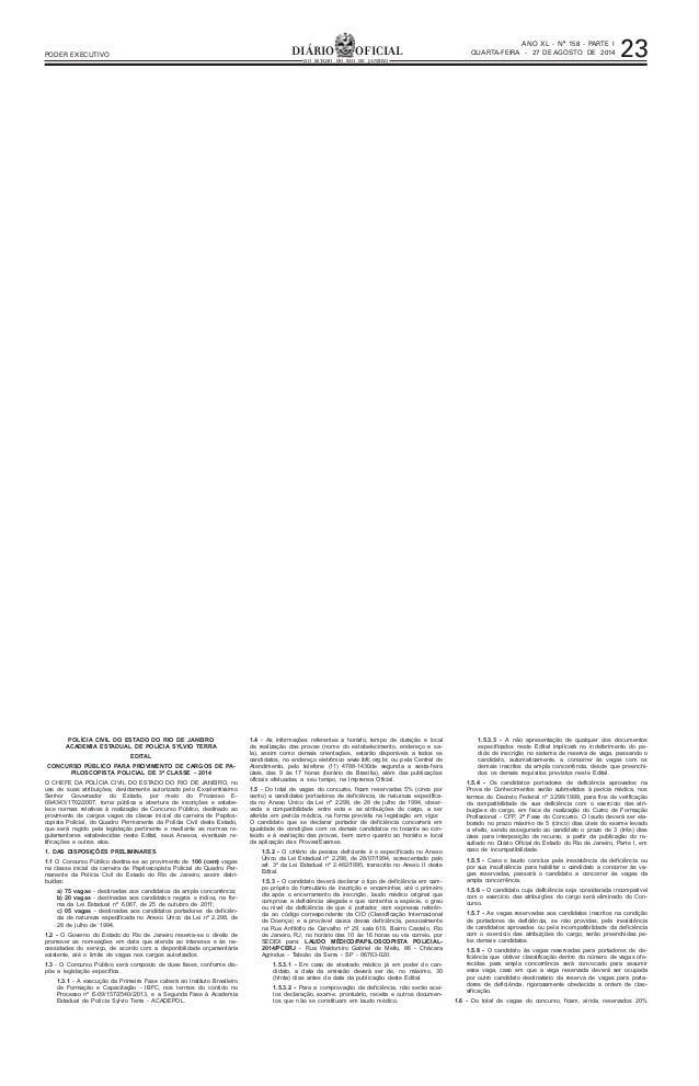 ,1Á412,-4 -:-+7618 .1+1) , -56), , 41 ,- )-14 ) :   #  2)46- 1 !37)46).-14)  % ,- )/56 ,-  POLÍCIA CIVIL DO ESTADO DO RIO ...