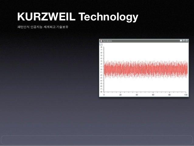 KURZWEIL Technology패턴인식 인공지능 세계최고 기술보유